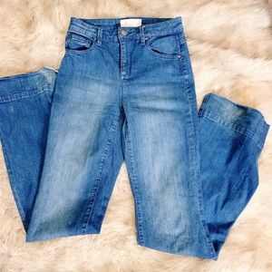 Rachel Rachel Roy Denim Jean Pants Flare High Rise
